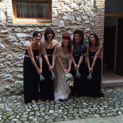 wedding bride bridesmaid